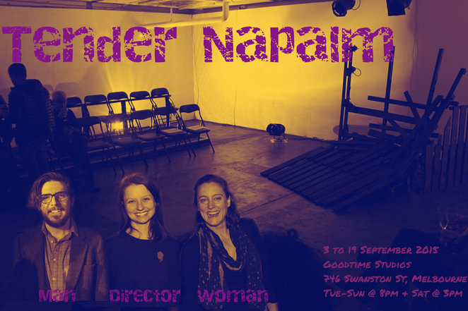 tender nepalm, tbc theatre, trudi boatwright, alice darling, ben adams, Q&A, Goodtime studios, open rehearsal, exclusive, actors, performing arts, play