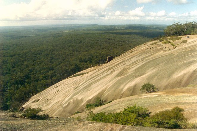 Photo of the view from Bald Rock courtesy of Wikimedia (Cas Liber_