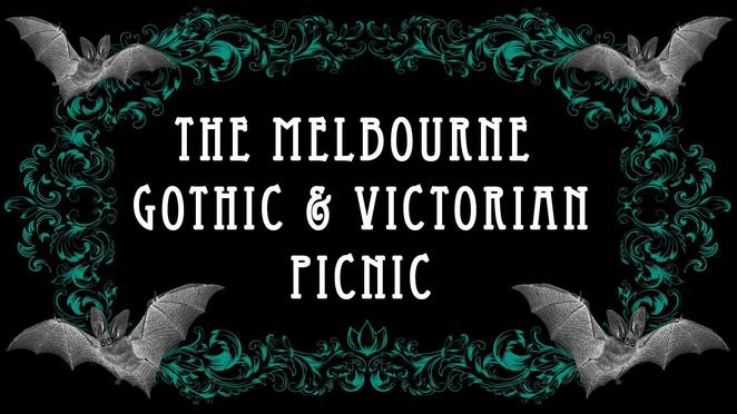 the melbourne gothic and victorian picnic 2017, misery's malice, fitzroy gardens, family friendly, picnic in the garden, parasol, picnic blanket, community event, fun things to do, lovers of gothic, victorian, edwardia, georgian, rococo, baroque, elegant lolita, steampunk, sea punk, neo victorian, dress in black, gothic clothing, gothic market stalls, entertainment