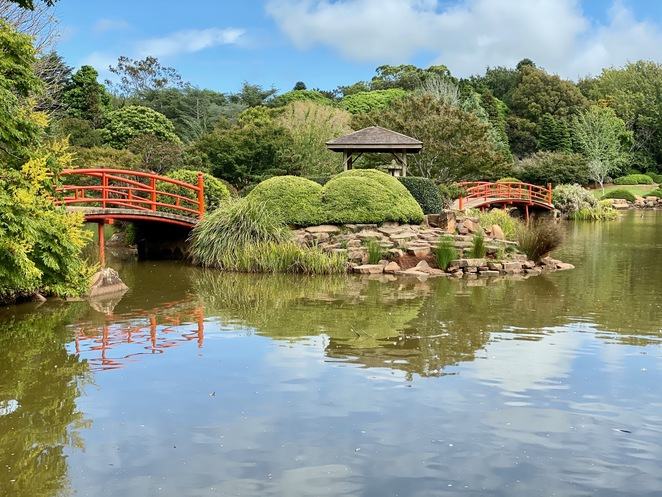Paths and bridges at the Japanese Gardens