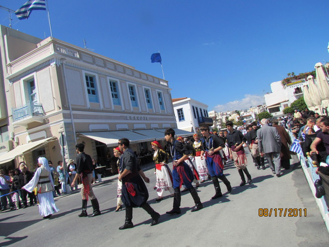 Traditional Dress in Greek parade
