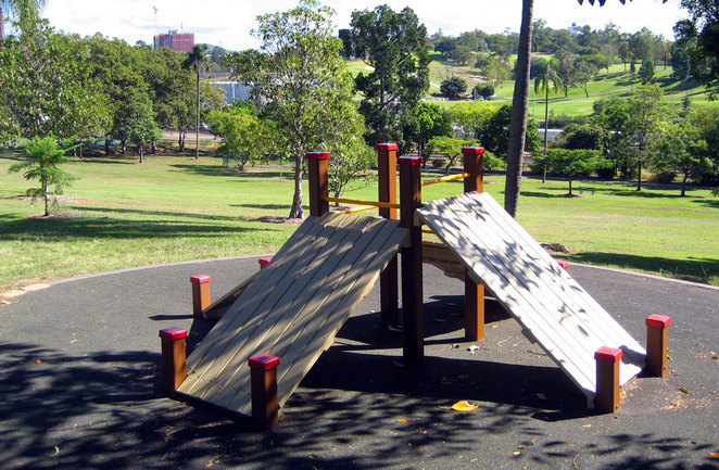 Victoria Park's exercise equipment is all back to basics