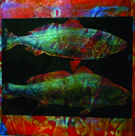 Wendy Rushby, Art, printmaking, collagraph