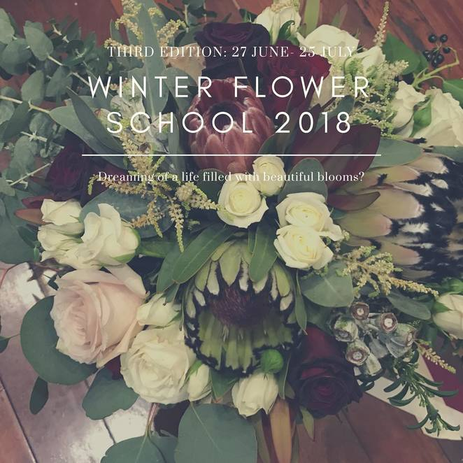 winter flower school 2018, community event, fun things to do, flower arranging, blooms, florist, flower workshop, flower classes, beans & bunches, northbridge, bouquets, table arrangements, flower styling tips, floristry industry