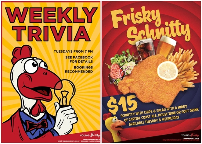 young and frisky, gungahlin, canberra, ACT, trivia nights, whats on, winter, pubs, beers, dinner, schitzels, north canberra, trivia nights around canberra, best trivia,