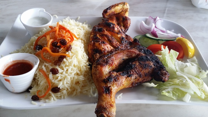 Afghan Charcoal Kebab Village, Half a Chicken Meal, Adelaide