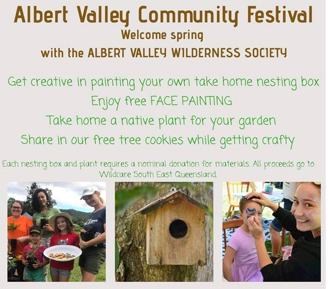 Albert Valley Community Festival, 2018, gold Coast, Cedar Creek, Cedar Creek Hall, Free, Free coffee, face painting, Albert Valley Wilderness Society,