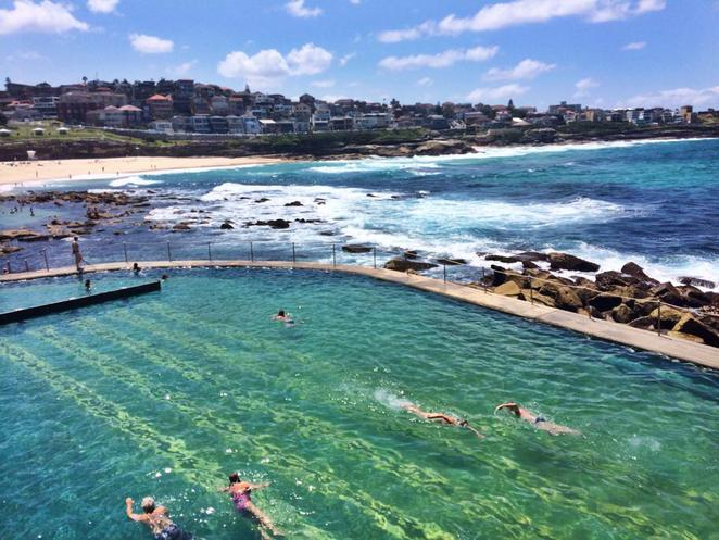 bronte, beach, ocean, pool, bath