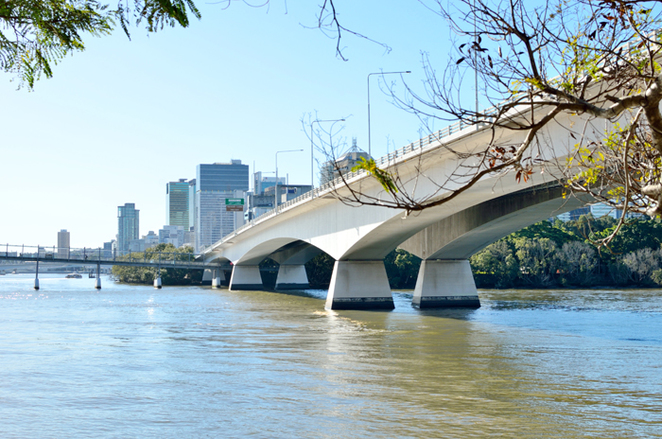 captain cook bridge, brisbane, kangaroo point, riverside walkway, southbank