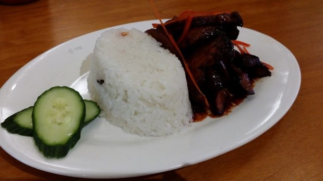 Chicken Rice Restaurant, BBQ Pork Rice, Adelaide