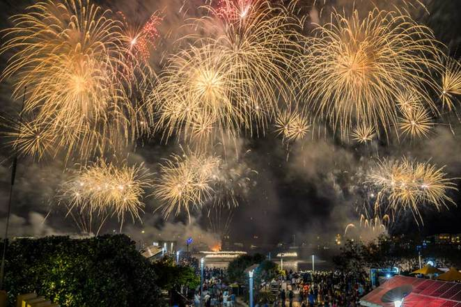 Gold Coast, fireworks, Australia Day