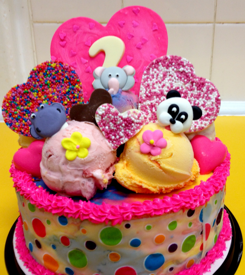 Ice Cream Yummo Cake Large Image Being My Little Girls 1st Birthday