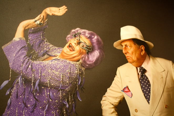 Dame Edna and Barry Humphries at 60 Years of Edna, Possums! – photo by Jenny Esots
