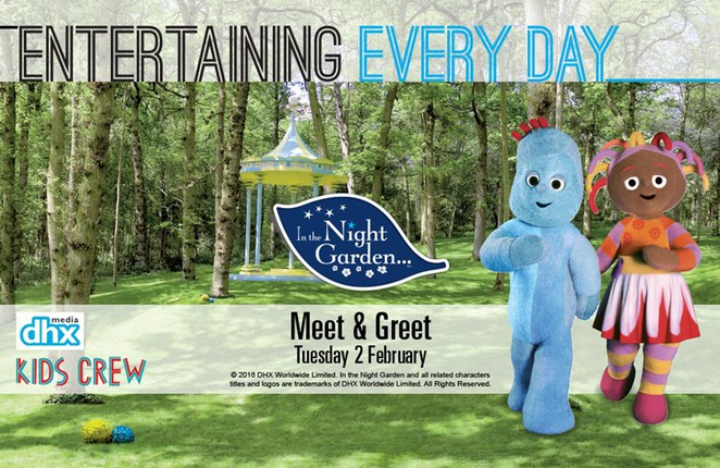 In the night garden, toombul shopping centre