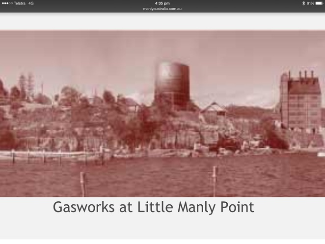 Manly Gas Works 1883 to 1964