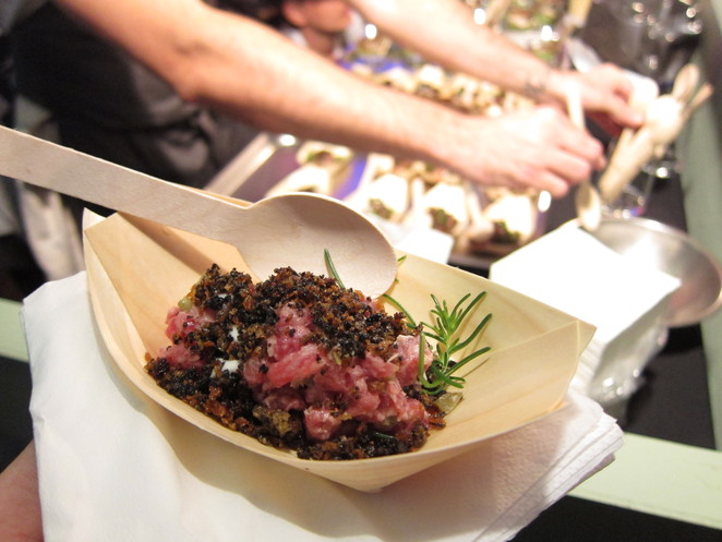 March into Merivale Food and Wine Festival - Wagyu Tartare and Oyster Cream from est. (photo by @AdrianKmita)