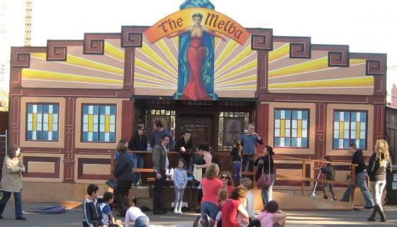 The Melba Spiegeltent in Collingwood
