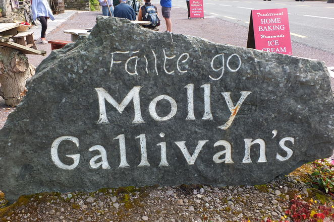 Molly Gallivan's Cottage and Traditional Farm, Bonane, Kenmare, County Kerry, Ireland, two hundred years old, The Druid, sibheen, Glengarriff, West Cork, South Kerry, Trail Head, three Failte Ireland National Loop Walks, Neolithic Stone Row, Summer Solstice, Ball Nights, Molly's Old World Craft Shop, Tea Shop, Barn Restaurant, breathtaking scenery