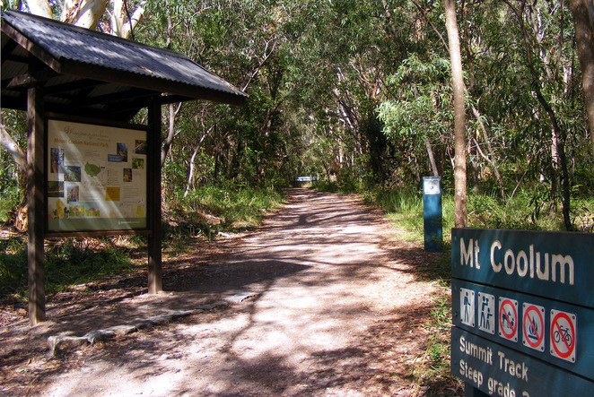 The start of the hike from the Mt Coolum Car Park