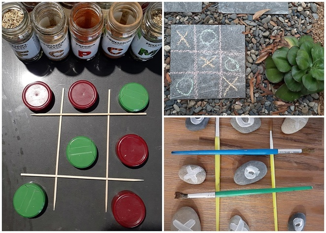 noughts and crosses, tic tac toe, DIY, make your own, pebbles, river pebbles, make it yourself, cheap, budget, things to make, kids craft,