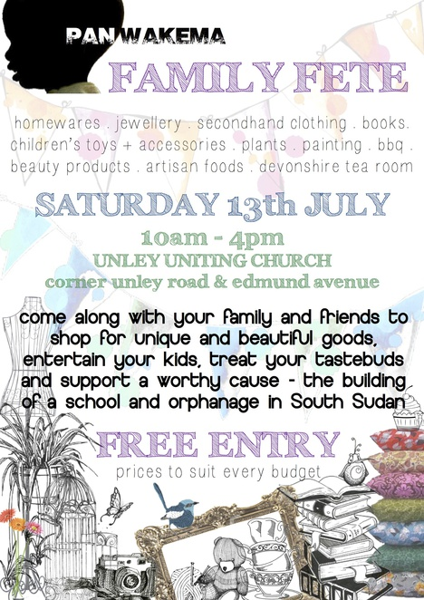 panwakema, south of adelaide, handmade, jewellery, vintage clothes, gourmet german food, charity, panwakema, family fete