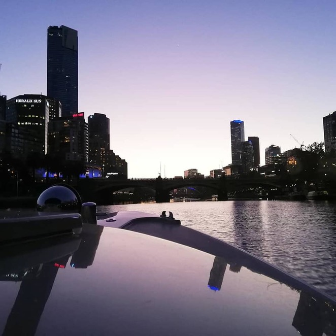 Private river cruise along the Yarra at sunset