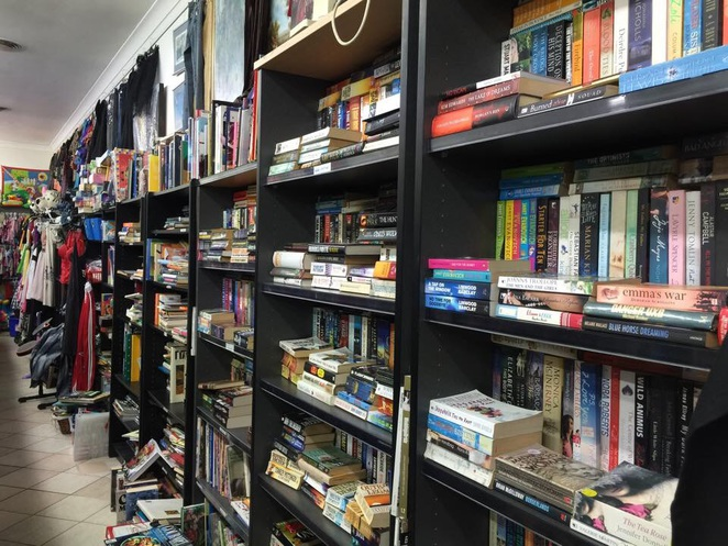 Second hand books, charity stores, animal rescue