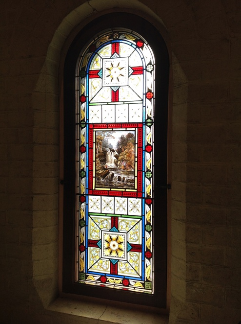 stained glass window, Turkish Bath Museum