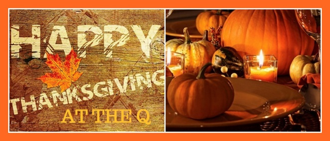 The Q on Harris cafe, Thanksgiving promotion