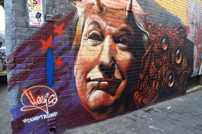 trump street art melbourne