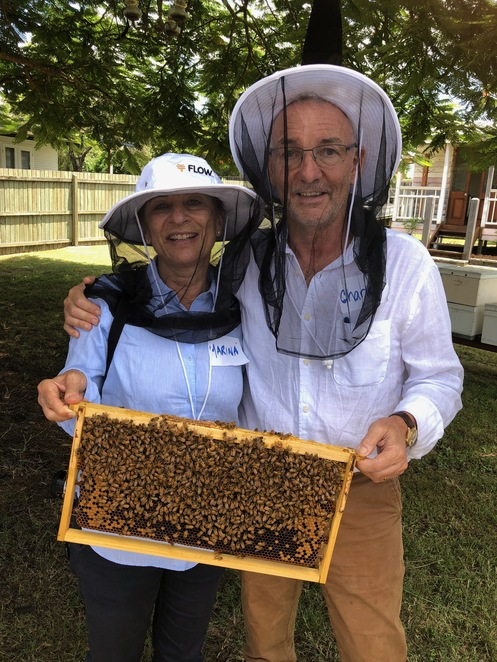 Two eager beekeepers