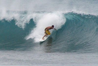 Surfing is a popular sport for teens. This image is from Wikimedia Commons ( by Stan Shebs).