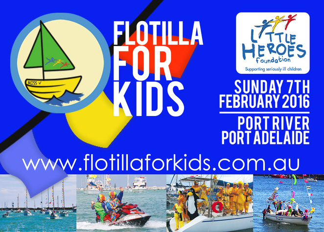Adelaide, Fundraiser, Flotilla for Kids, Little Heroes Foundation, Port Adelaide, Port River, Charity, Children