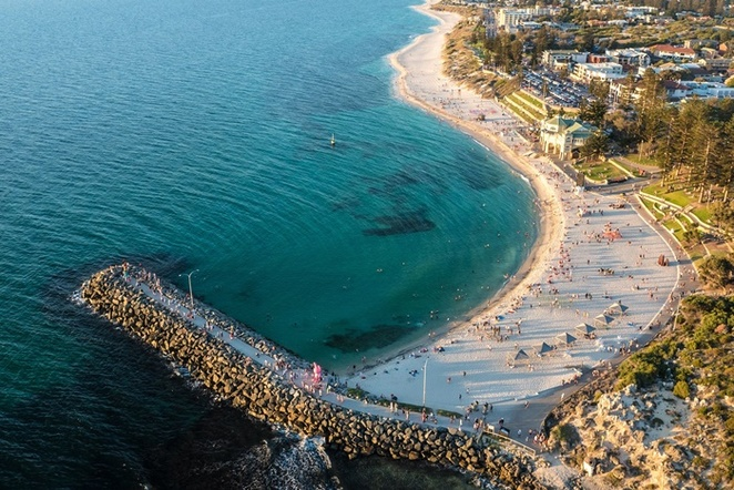 aerial,view,over,Cottesloe