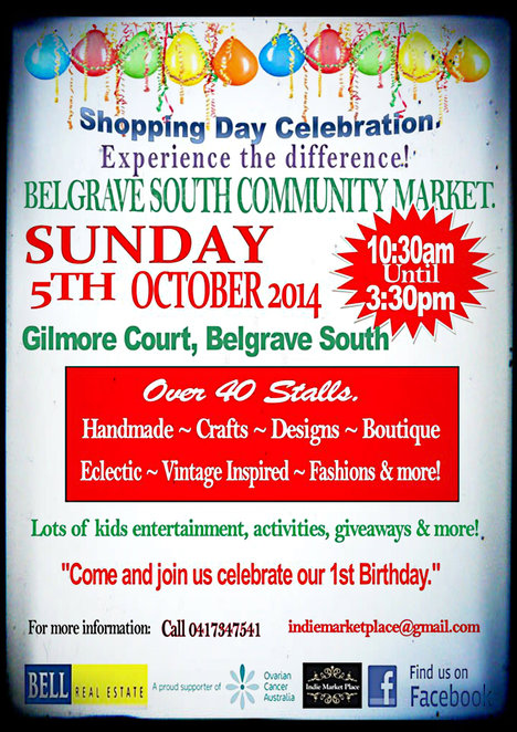 belgrave south community market, shopping day celebration, ovarian cancer, market, belgrave south, community center, friends of refugee
