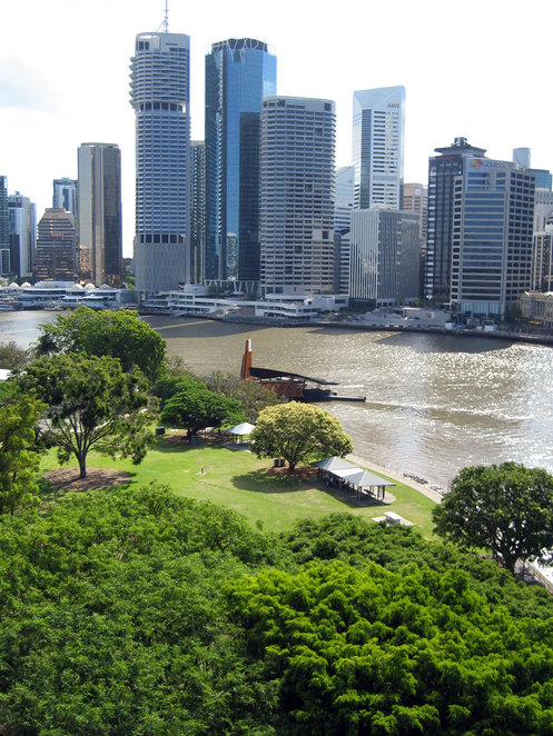 Captain Burke Park as seen from the Story Bridge