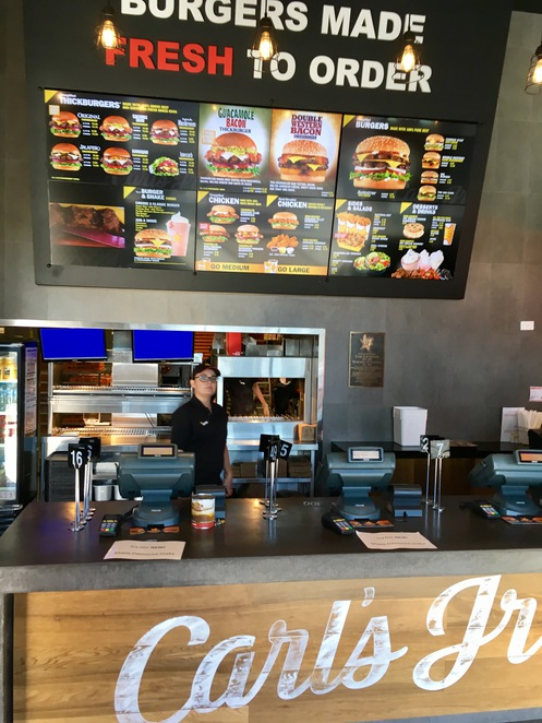 Carl's Jr. Menu, Chargrilled burgers, thickburgers, american burgers, natural cut fries, hand breaded chicken tender, Bateau Bay