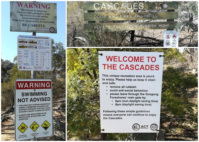 cascades, googong, swimming area, fishing area, googong dam, lookout, NSW, ACT, national park, views, swimming holes, river swimming holes, near canberra,