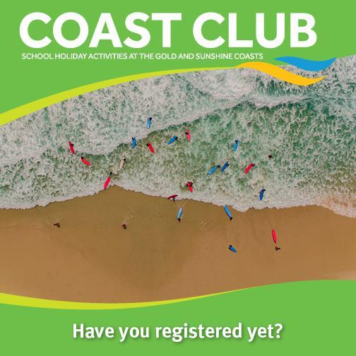 Coast Club School Holiday Activities, Sunshine Coast, Gold Coast, QLD Recreation Centres, half day, full day activity sessions, parents welcome, abseiling, quick jumps, canoe to David Fleay Wildlife Park, Tallebudgera Creek, caving, giant swing, high ropes, straight up, register online, surfing, pool games, archery, evasion games, fencing, circus skills, stand-up paddle boarding