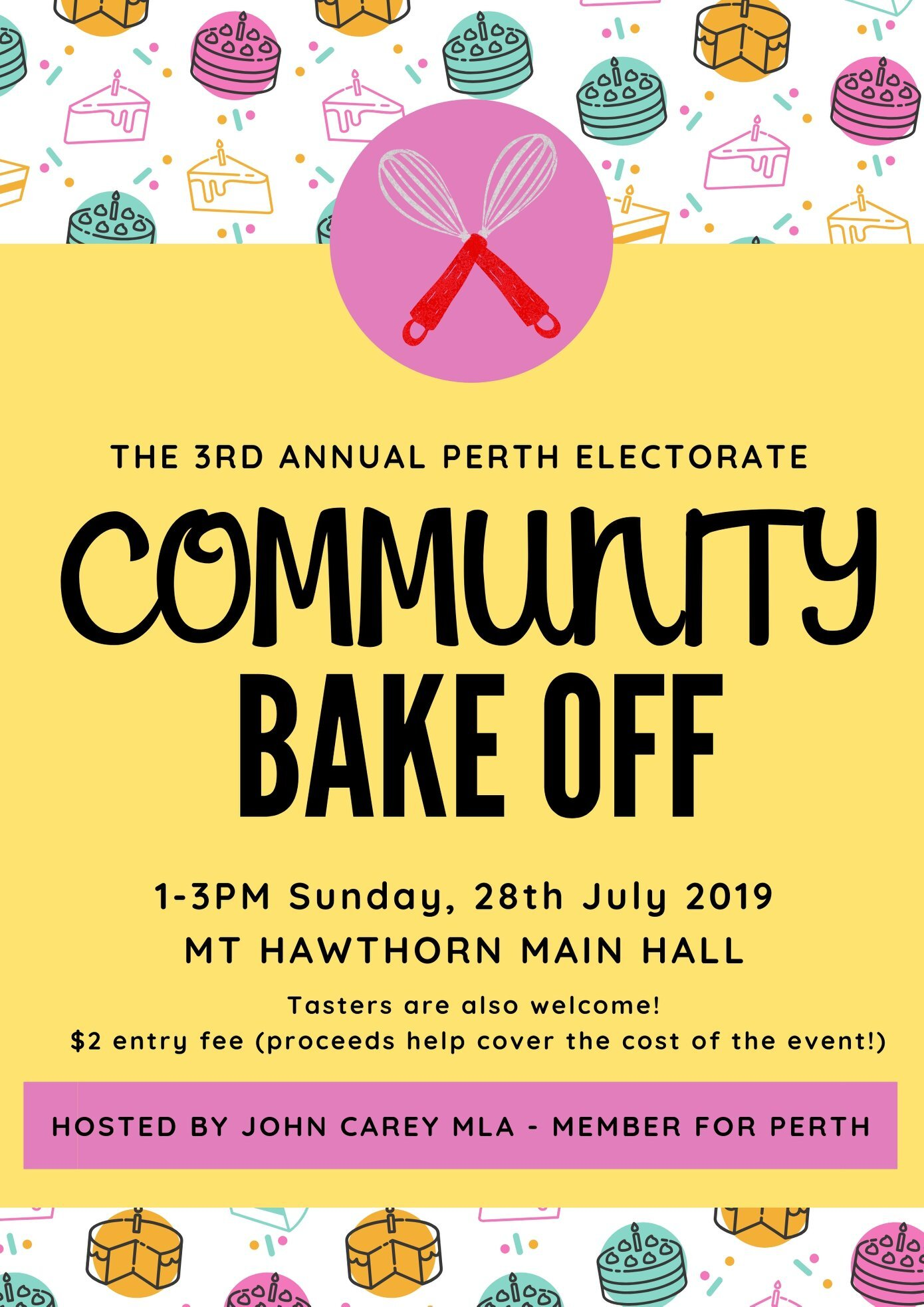 Perth Electorate - Community Bake Off 2019 - This Event is