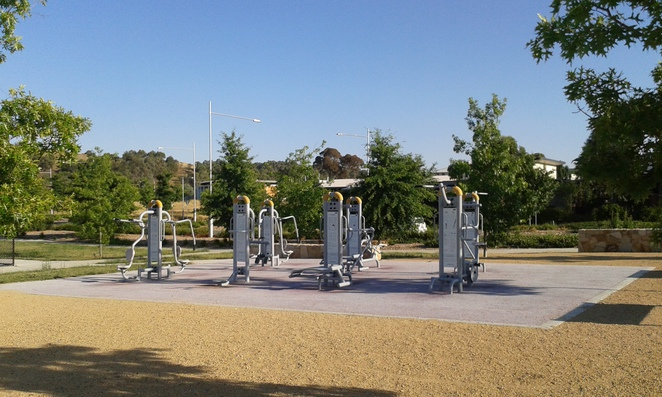 crace recreational park, gungahlin, canberra, playground, outdoor fitness equipment, ACT, sports fields, playgrounds, free BBQ's,