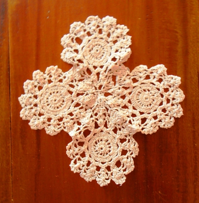 This antique doily has been expertly crafted using traditional skills.