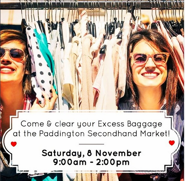 excess Baggae: Paddington Fair, Op Shop, Markets, Christmas Shopping, whats on in Brisbane, declutter, suitcase rummage, vintage, secondhand market