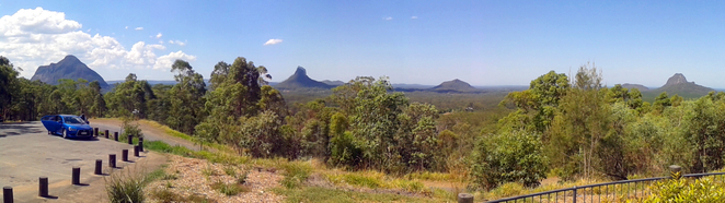The view from the Glass House Mountains Lookout