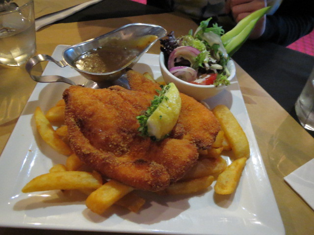 Hindley Street, Woolshed on Hindley, Chicken Schnitzel, Adelaide
