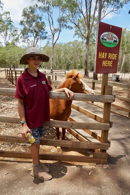 Kyle with the Miniature Horse