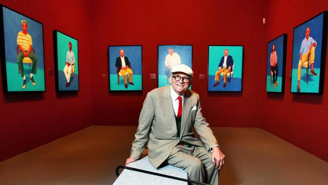 la trobe university art now summer school, ngv, national gallery of victoria, david hockney exhibition, art exhibition, histroy of hockney, portraiture, art, summer exhibition, after hours viewing, artist, paintings, community event, fun things to do, artistic