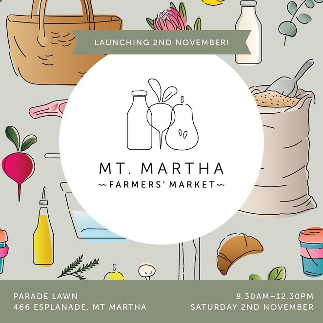 mt martha farmer's market launch 2019, community event, fun things to od, mt martha house, free market event, parade lan, sustainable, environmental, reusable bags cups and containers, community twilight market, sustainable table, zero waste