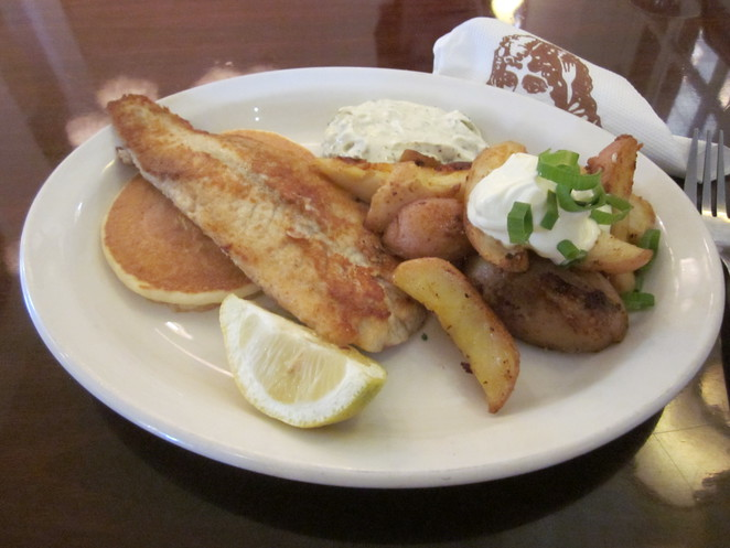 Pancakes, fish and chips