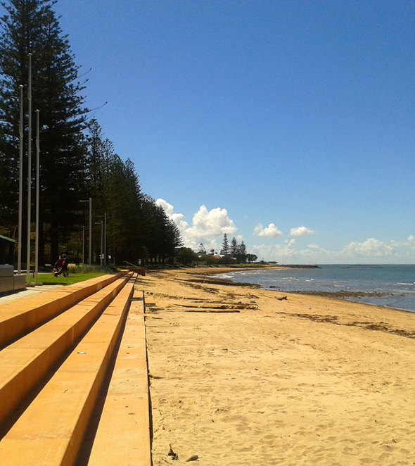 Redcliffe has a few beaches you can swim at, but most people prefer the Lagoon